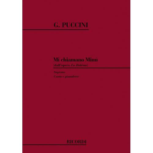 RICORDI PUCCINI G. - LA BOHEME: MI CHIAMANO MIMI' - CHANT ET PIANO