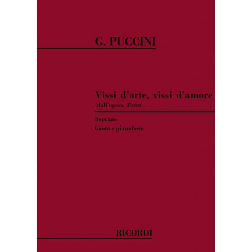 RICORDI PUCCINI G. - VISSI D'ARTE VISSI D'AMORE - CHANT ET PIANO
