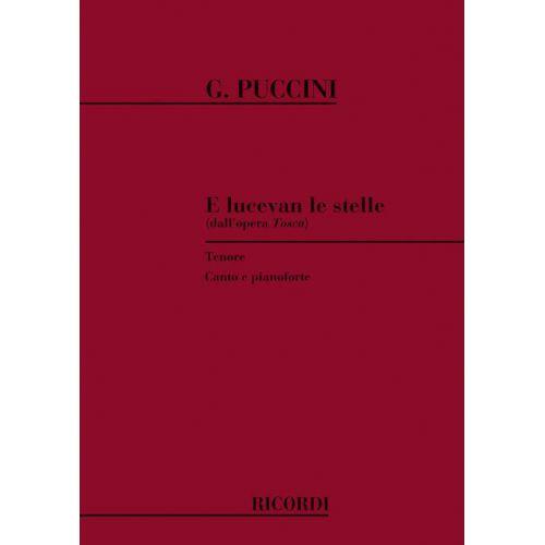 RICORDI PUCCINI G. - TOSCA: E LUCEVAN LE STELLE - CHANT ET PIANO