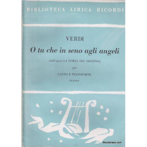 RICORDI VERDI G. - LA FORZA DEL DESTINO: O TU CHE IN SENO AGLI ANGELI - CHANT ET PIANO