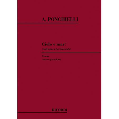RICORDI PONCHIELLI A. - LA GIOCONDA: CIELO E MAR! - CHANT ET PIANO