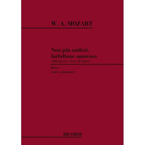 RICORDI MOZART W.A. - LE NOZZE DI FIGARO: NON PIU' ANDRAI FARFALLONE AMOROSO - CHANT ET PIANO