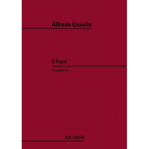 RICORDI CASELLA A. - 9 PEZZI OP.24 - PIANO