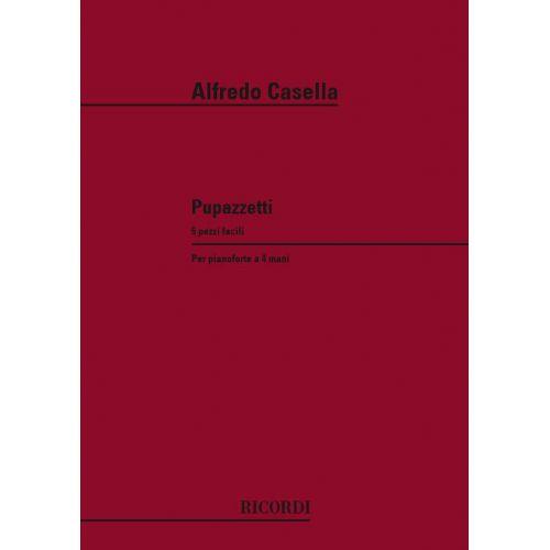 RICORDI CASELLA A. - PUPAZZETTI 5 PEZZI FACILI - PIANO 4 MAINS