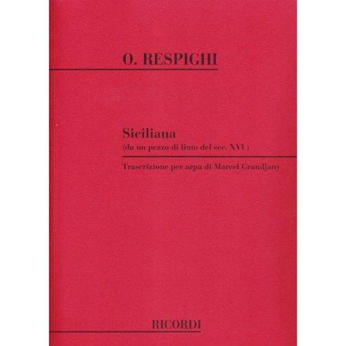 RICORDI RESPIGHI O. - SICILIANA - HARPE