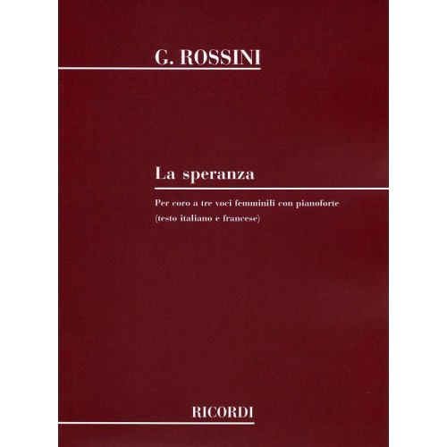 RICORDI ROSSINI G. - SPERANZA - CHOEUR