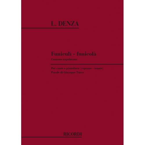 RICORDI DENZA L. - FUNICULI-FUNICULA' - VOIX SOPRANO ET TENOR
