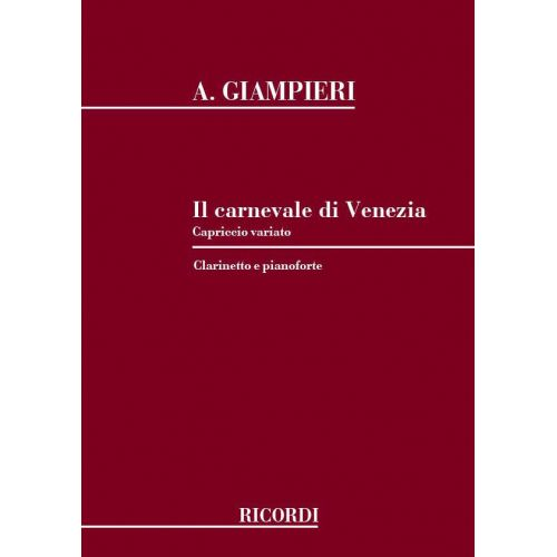 RICORDI GIAMPIERI A. - CARNEVALE DI VENEZIA - CLARINETTE