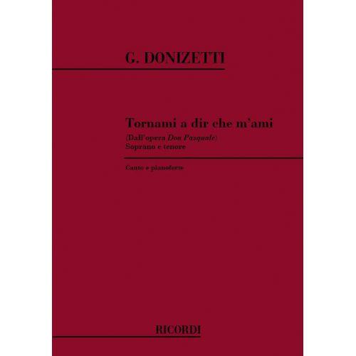 RICORDI DONIZETTI G. - TORNAMI A DIR CHE M'AMI