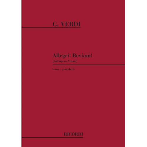 RICORDI VERDI G. - ALLEGRI! BEVIAM! - CHOEUR