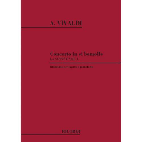 RICORDI VIVALDI A. - CONCERTO IN SI BEM. 'LA NOTTE' RV 501 - BASSON ET PIANO