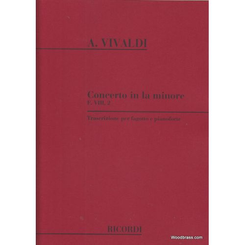 RICORDI VIVALDI A. - CONCERTO IN LA MIN. - BASSON