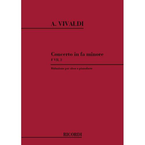 RICORDI VIVALDI A. - CONCERTO IN FA RV 455 - F.VII/2 - HAUTBOIS ET PIANO