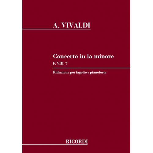 RICORDI VIVALDI A. - CONCERTO IN LA MIN. RV 497 - F.VIII/7 - BASSON ET PIANO
