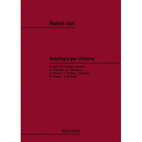 RICORDI ANTOLOGIA PER CHITARRA DI AUTORI MODERNI - GUITARE
