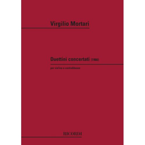 RICORDI MORTARI V. - DUETTINI CONCERTANTI - VIOLON ET CONTREBASSE