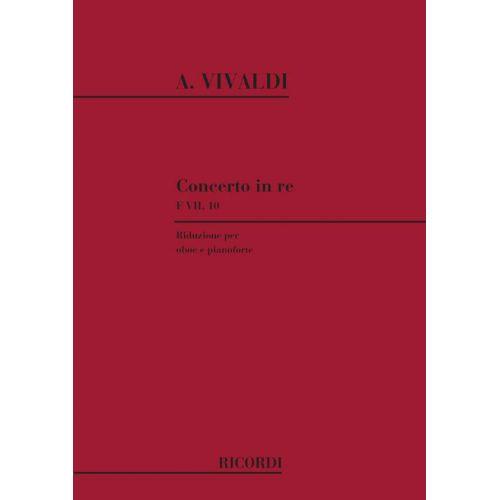 RICORDI VIVALDI A. - CONCERTO IN RE RV 453 - F.VII/10 - HAUTBOIS ET CORDES