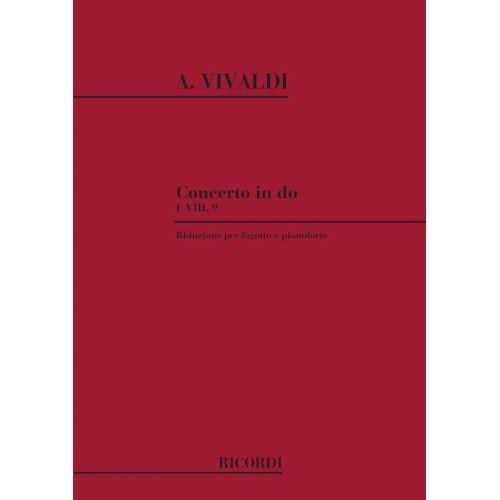 RICORDI VIVALDI A. - CONCERTO IN DO RV 473 - F.VIII/9 - BASSON ET PIANO