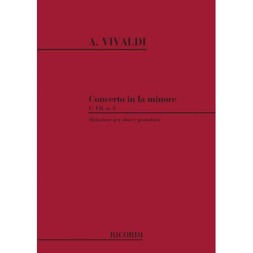 RICORDI VIVALDI A. - CONCERTO IN LA MIN. RV 461 - F.VII/5 - HAUTBOIS ET CORDES