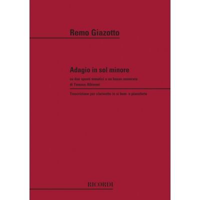 RICORDI ALBINONI T. - ADAGIO IN SOL MIN - CLARINET