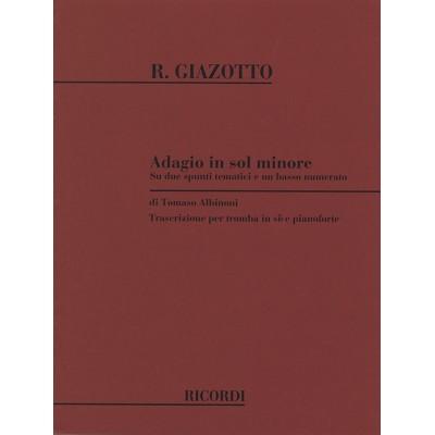 RICORDI ALBINONI I. - ADAGIO IN SOL MIN. - TROMPETTE ET PIANO