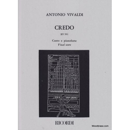 RICORDI VIVALDI A. - CREDO RV 591 - CHOEUR