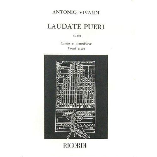 RICORDI VIVALDI A. - LAUDATE PUERI DOMINUM. SALMO 112 RV 601 - CHANT ET PIANO