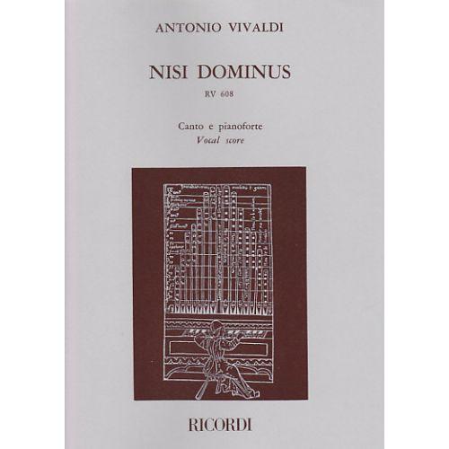 RICORDI VIVALDI NISI DOMINUS, RV 608, CANTO E PIANOFORTE