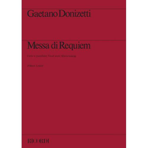RICORDI DONIZETTI G. - MESSA DI REQUIEM - CHANT ET PIANO