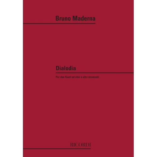RICORDI MADERNA B. - DIALODIA - HAUTBOIS ET PIANO