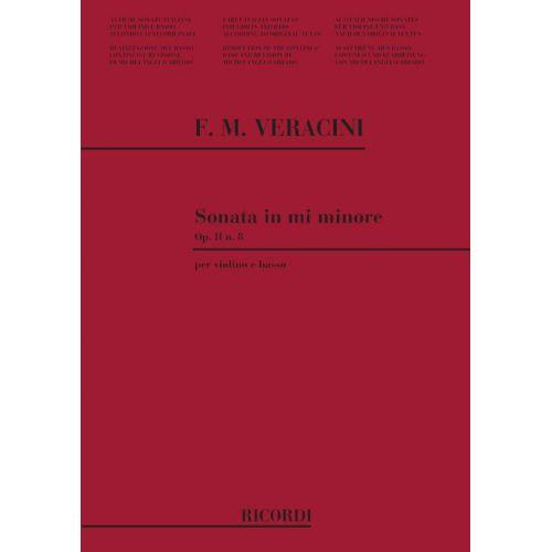 RICORDI VERACINI F.M. - SONATA N.8 IN MI MIN. - VIOLON ET BASSE