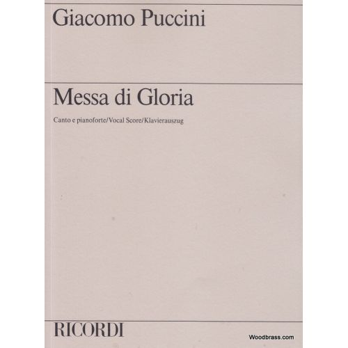 RICORDI PUCCINI G. - MESSA DI GLORIA - CHANT ET PIANO