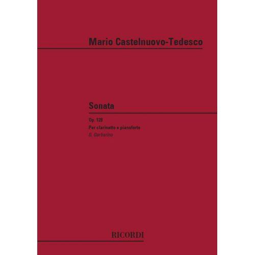 RICORDI CASTELNUOVO TEDESCO M. - SONATA OP. 128 - CLARINETTE
