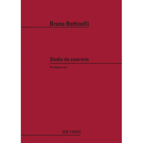 RICORDI BETTINELLI B. - STUDIO DA CONCERTO - BASSON