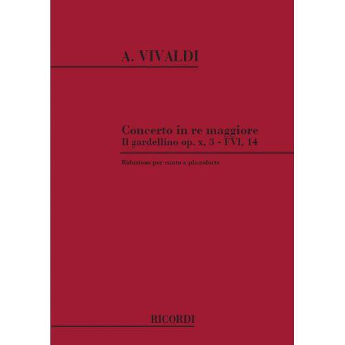 RICORDI VIVALDI A. - CONCERTO IN RE MAGGIORE - FLUTE, CORDES ET ORGUE