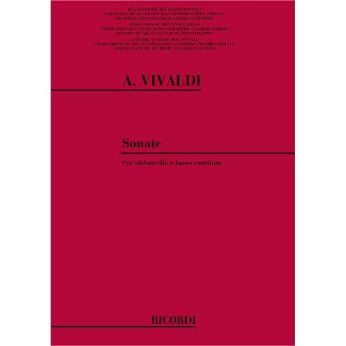 RICORDI VIVALDI A. - SONATES - VIOLONCELLE, PIANO