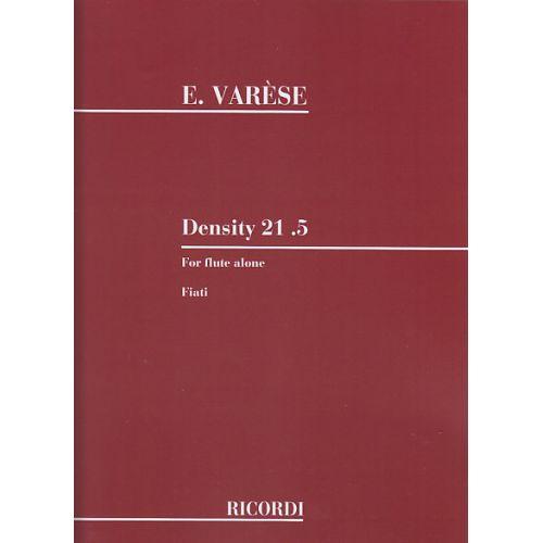 RICORDI VARESE EDGAR - DENSITY 21.5 POUR FLûTE SEULE