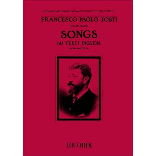 RICORDI TOSTI F.P. - SONGS SU TESTI INGLESI I RACCOLTA - CHANT ET PIANO