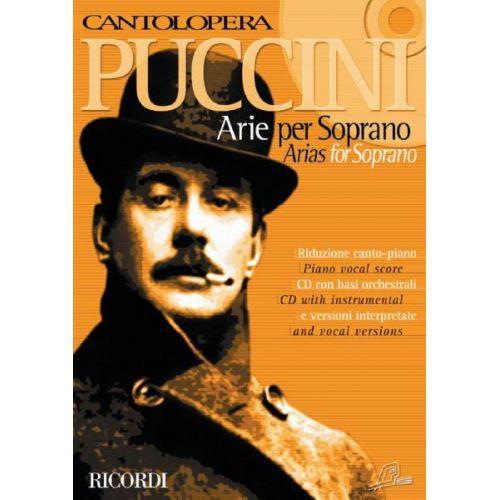 RICORDI PUCCINI G. - CANTOLOPERA: ARIE PER SOPRANO + CD - CHANT ET PIANO