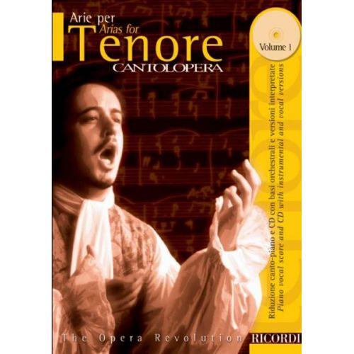 RICORDI CANTOLOPERA: ARIE PER TENORE + CD - CHANT ET PIANO