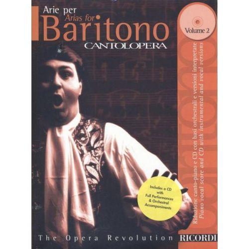 RICORDI CANTOLOPERA: ARIE PER BARITONO, VOL. 2 + CD - CHANT ET PIANO