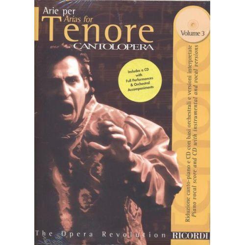 RICORDI CANTOLOPERA: ARIE PER TENORE VOL.3 + CD