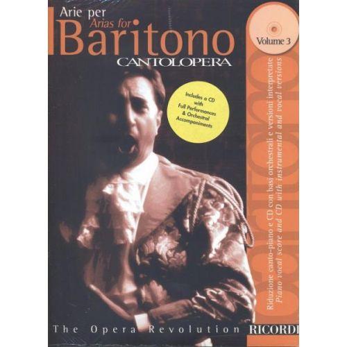RICORDI CANTOLOPERA: ARIE PER BARITONO VOL.3 + CD