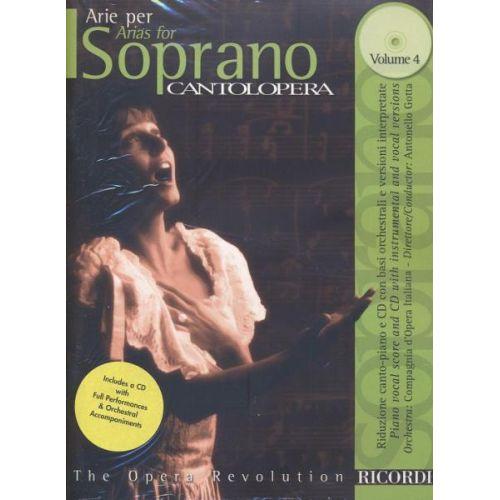 RICORDI CANTOLOPERA: ARIE PER SOPRANO VOL 4 + CD