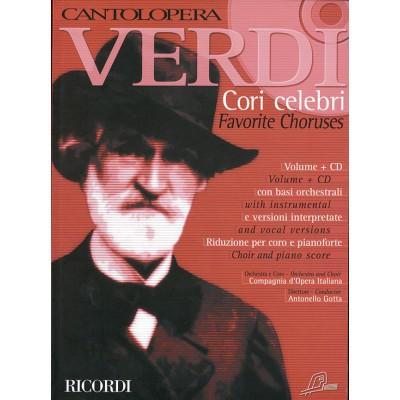 RICORDI VERDI G. - CANTOLOPERA - CORI CELEBRI + CD - CHOEUR