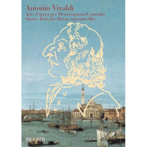 RICORDI VIVALDI A. - ARIE D'OPERA - VOIX MEZZOSOPRANO ET CONTRALTO