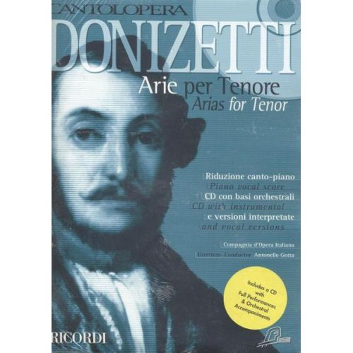 RICORDI DONIZETTI G. - CANTOLOPERA: ARIE PER TENORE + CD