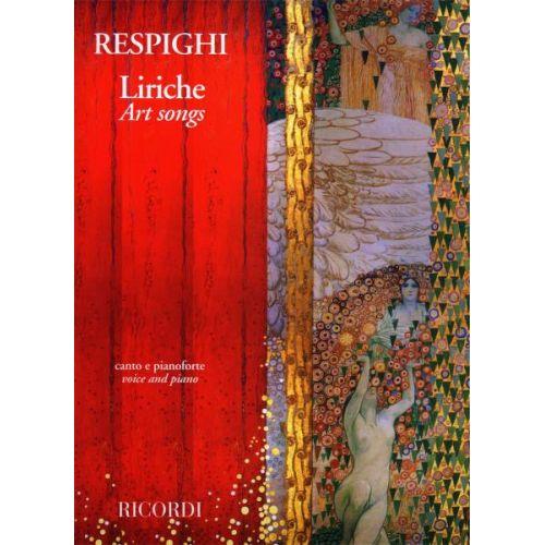RICORDI RESPIGHI O. - LIRICHE - ART SONGS - CHANT ET PIANO