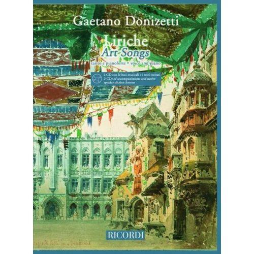 RICORDI DONIZETTI G. - LIRICHE - ART SONGS + 2CD - CHANT ET PIANO