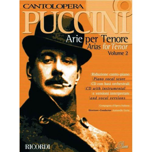 RICORDI PUCCINI G. - CANTOLOPERA: ARIE PER TENORE VOL. 2 - CHANT ET PIANO